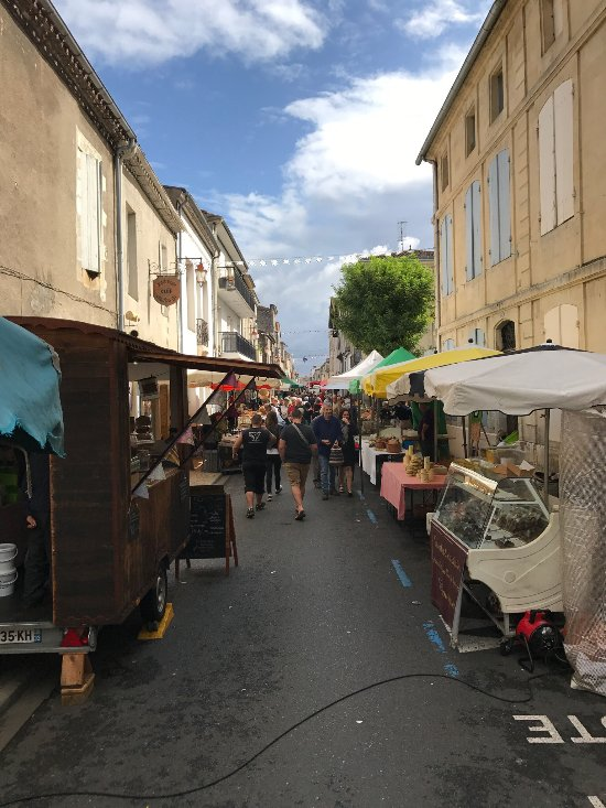 View of the street market